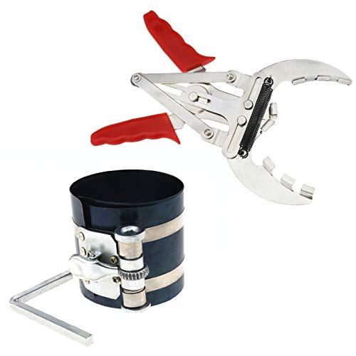 OTOTEC 10,2cm pour Segment de Piston à cliquet, Type de Pince Voitures de bagues de Piston de 50mm-100mm Segment de Piston Remover Clé