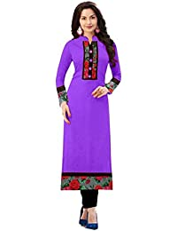 New Designer Indo Cotton Casual Wear/daily Wear/office Wear Simple Plain Printed Semi-sttiched Straight Kurti...