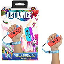 Just Dance 2019 - Grip and Strap pack - Ergonomic comfort handles with straps for Nintendo Switch JoyCon controller - Blue and purple