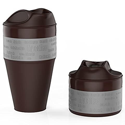 Jerrybox Coffee Cup, Collapsible Silicone Mug BPA-free Foldable Silica Coffee
