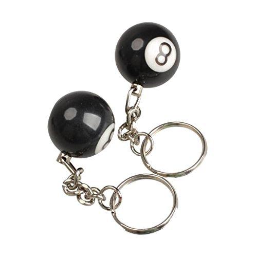 Nopea Schlüsselanhänger 2x Billardkugel Schlüsselanhänger Schlüsselring Glueck Nr.8 Schlüssel Halter Für Schlüsseldekoration Schütze den Schlüssel