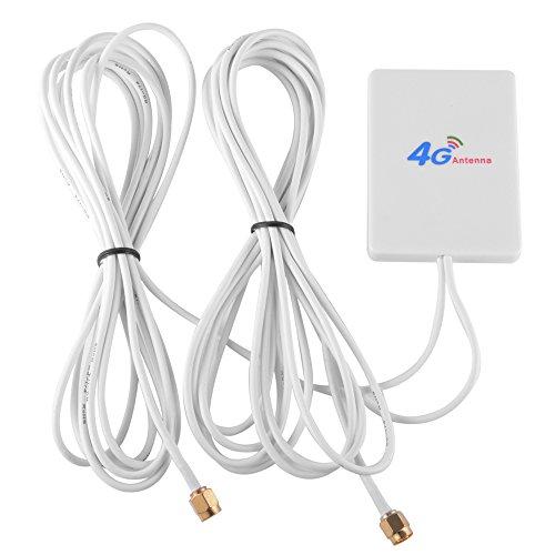 XCSOURCE LTE SMA Signal Booster 4G 3G 2.4G Amplificador de antena 28dBi Gain Panel para Hotspot Mobile Broadband Router BI577
