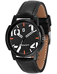 Geonardo's Inferno Black Dial Leather Strap Watch For Men And Boys-GDM005
