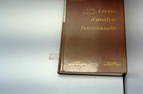 Lecons D'Analyse Fonctionnelle, Professees au College De France