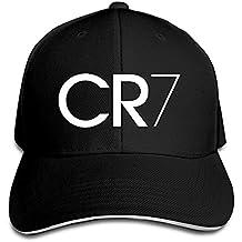 Trithaer Custom CR7 Logo Adjustable Sandwich Hunting Peak Tiene & Cap, Color Negro, tamaño