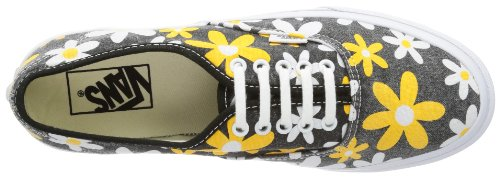 Vans U AUTHENTIC SLIM VQEV8XC Unisex-Erwachsene Sneaker Schwarz ((Van Doren) spectra yellow/daisy)