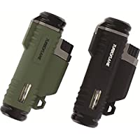 From HIGHLANDER of Scotland, TWIN turbo flame gas fuelled lighter, windproof 6