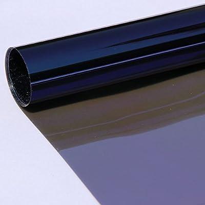 Hoho fenêtre de voiture film teinté solaire Vinyle Réglage de chaleur VLT 25% pour vitre latérale en verre, Résidentielles 50,8cm X98ft Rouleau
