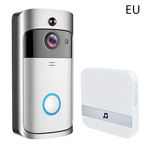 SUPERLOVE Intelligente Türklingel,WiFi-Video Türklingelkamera,batteriebetrieben mit Plug-in Glockenspiel für die Sicherheit zu Hause HD-WiFi Überwachungskamera,Zwei Wege Echtzeit Gespräch und Video - Intelligentes Video