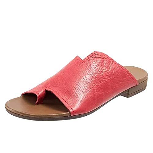 Lammfell Ankle Boot Hausschuhe (Kaister Damen mode Urlaub Wohnungen offene Zehe Ankle Strand Schuhe römische Hausschuhe Sandalen Plateau Sandalette)