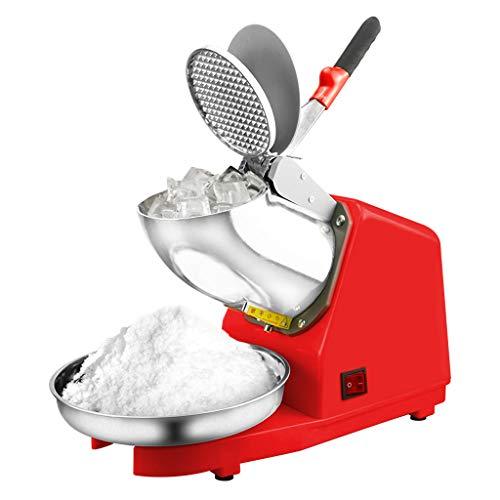 Lxn Elektrische Ice Crusher Shaver Schnee-Kegel-Hersteller-Maschine Red 187 lbs/hr für Haus und gewerbliche Nutzung (Edelstahl Doppelmesser)