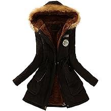Reaso Manteaux Hiver Femme Parka Elegant Pullover Chaud Veste à Capuche Manteau Manches Longue Grande Taille Hoodie Sweatshirt Casual Outwear Capuche Sport Outfits