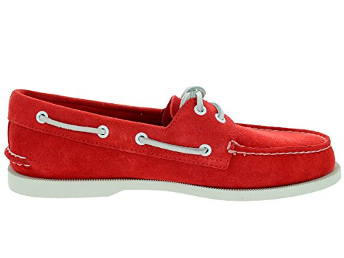 Sperry A/O 2 Eye Suede Pont Chaussures Hommes - rouge red