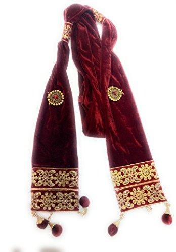 Men's velvet stole for groom/dupatta for dulha/sherwani stole/CHUNNI