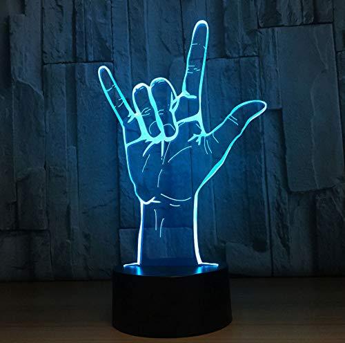 Gebärdensprache Ich Liebe Dich 3D Nachtlicht Usb Acryl 3D Tischlampe Betrieben Romantische Hochzeit Party Decor Beste Geschenk