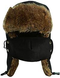 Baymate Unisexo Invierno Trapper Bombardero Sombreros con Orejeras Gorras Caliente Gorros de Deportes Patín Esquí