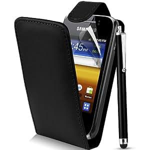 Supergets Étui à rabat pour Samsung Galaxy Y S5360 en cuir PU avec film protecteur pour écran, stylet et chiffon
