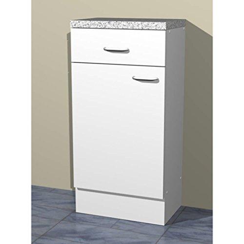 Küchen Unterschrank in verschiedenen breiten Start Melamin weiß/weiß
