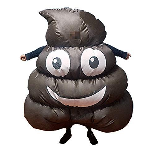 J.Shallow J. Flach, Cartoon-Cosplay-Kostüm, Halloween/Weihnachtsfeier Sprechende Poop Aufblasbares Spielzeug, 100% Polyester, Maskerade, Kostüm-Requisiten, Männliche Hündin, Kind, Schwarz