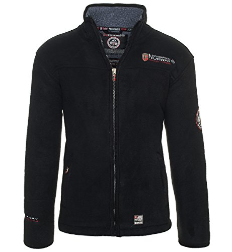 Expedition S/s Shirt (Geographical Norway Herren Fleece Jacke warme Sweatjacke Winter Sweater [GeNo-23-Schwarz-Gr.S])