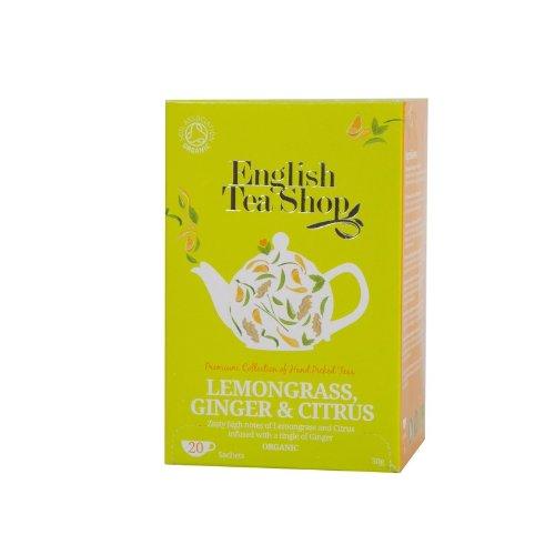 English Tea Shop - Lemongras Ingwer und Zitrusfrüchte, BIO, 20 Teebeutel
