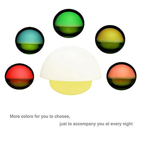 ALED LIGHT LED Nachtlicht, Mini Stimmung Lampe Pilz Lampe Yoga Lampe Mushroom Lampe Bettlampe Tumbler, 3-Modi dimmbares Warmweiß/Farbwechsel mit Touch Schalter für Babys Zimmer,Schlafzimmer, Wohnräume, Camping, Picknick Indoor/Outdoor (gelb) (1 PCS)