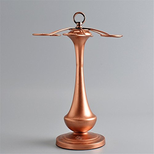 Wkaijc Europäische Kreative Persönlichkeit Hauptdekoration Ornamente Weinbecher Ausstellungsstand Bronze Eisen Rot Glasrahmen