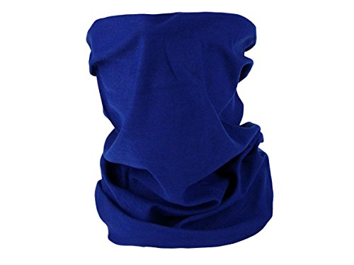 Foulard fazzoletto da collo sciarpa funzionale multiuso scaldacollo tubolare leggero e morbido estate primavera autunno inverno loop anello ragazze colorati stola accessorio moderno lifestyle, Multiscarf MF-67-79:royal blu 70