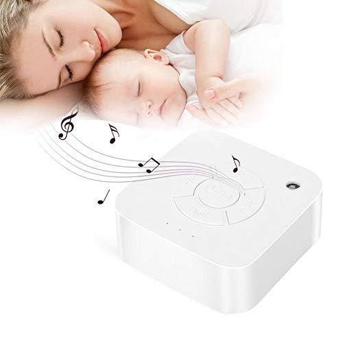 White Noise Machine, Weißes Rauschen Maschine mit 9 Beruhigender Geräuschen, Timer Sound Therapy Entspannung Beruhigende Hilfe Schlaf Geräusch Maschine für für Baby Erwachsenen Büro Reise Gebrauch (Schlaf-sound-maschine)