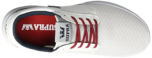 Supra Hammer Run, Sneaker Uomo Weiß (White/Red-White)