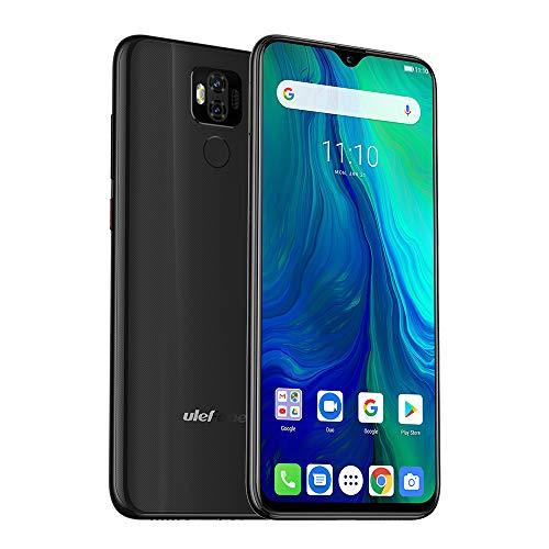 ulefone power 6 cellulari offerte,android 9.0 6.3 fhd incell display,4gb + 64gb,6350mah batteria,dual cameras 16mp + 2mp/16.0mp,fingerprint face id,nfc,dual sim 4g smartphone(nero)