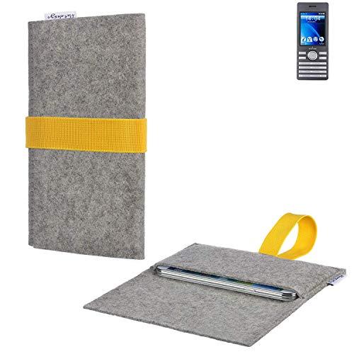 flat.design Handy Hülle Aveiro für Kazam Life B6 handgefertigte Filz Tasche für Kazam Life B6