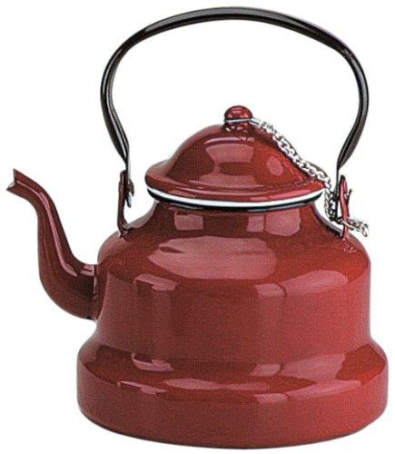 IBILI 910410 - Teiera bollitore in Acciaio smaltato, Colore: Rosso Scuro