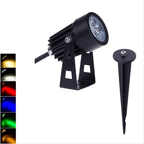 XYQY LED Landschaft Lichter 12V 3W 220V wasserdichte Garten Weg Lampe Bäume Flaggen Outdoor-Strahler mit Spike Dc12V 3W grün