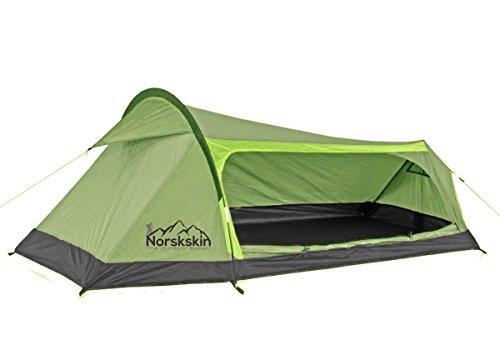Zelt Norskskin Kevyt 1 bis 2 Personen Camping Trekking Biker Zelt 1,3 Kg leichtes Zelt mit 2000 mm Wassersäule