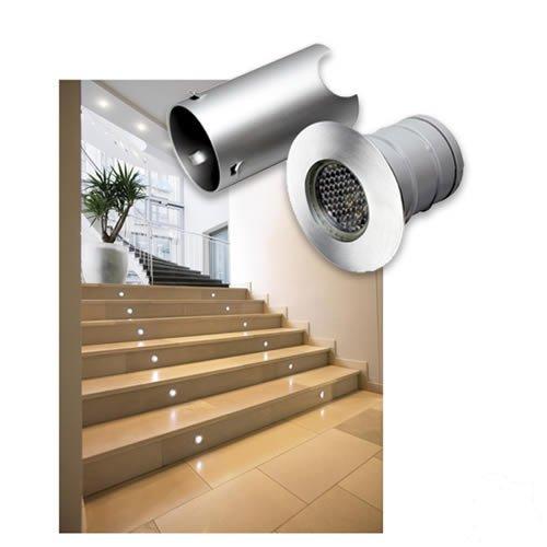 Spot LED encastrable pour extérieur SLV Trail Lite 0.3 W acier inoxydable