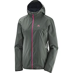 Salomon Essential Jkt W Chaqueta Impermeable Para Mujer Gris Urban Chic