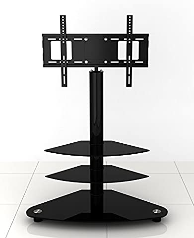 Universal Black Glass TV Stand with Bracket 22 to 42 inches