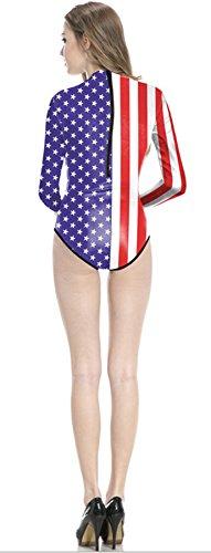 Thenice -  Costume intero  - Donna US Flag