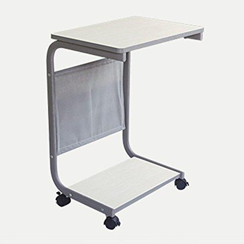 Folding table LVZAIXI Einstellbare Tragbarer Tisch Tragbare Laptop Stand Schreibtisch Warenkorb Sofa Bett Beistelltisch Sofa Bett Pflege Lesen (Farbe : Weiß) (Warenkorb Laptop-schreibtisch)