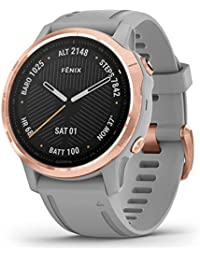 Watch Garmin Fenix 6S Sapphire Rose Gold with Grey Silicone Strap 010-02159-21