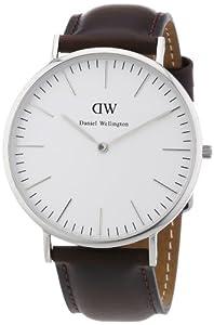 Reloj Daniel Wellington 0209DW de cuarzo para hombre con correa de piel, color marrón de Daniel Wellington