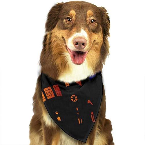 Wfispiy Hund Bandana Haustier Schal Halloween Night Moon Classic Pet Bandana Haustier Halsbänder für Hund Katze eine Größe