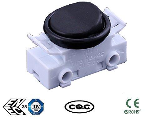 Sucre Auxiliary ® 2 A 250 VAC On-Off-Round Rocker Button Switches für Auto Boot Armaturenbrett UK Verkäufer - Zwei Rocker Switches