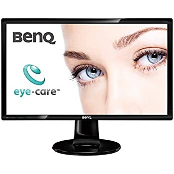 """Benq GL2460 - Monitor de 24"""" (1920x1080p Full HD, 16:9, LED, Flicker Free, 23 W, 2 ms, modo Eco), color negro"""
