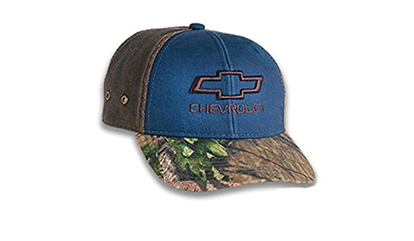 Bundle with Driving Style Decal Gregs Automotive Chevrolet Chevy Bowtie Realtree Hat Cap Blue Weathered Back Panels