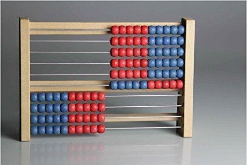 Wissner aktiv lernen Schüler-Rechenrahmen aus biologischem RE-Wood ® -- Made in Germany -- Professioneller Schülerrahmen, von Lehrern empfohlen: mit sich nicht überlappenden Kugeln: die richtige Hilfe beim Rechnen lernen!