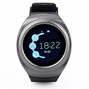 sampi Samsung Galaxy Ace 4 Compatible Certified Bluetooth Smart Wrist Watch Phonewith & SIM Card & TF Card Support with Apps Like Facebook And Whatsapp Hot Fashion New Arrival Best Selling Premium Quality Lowest Price Touch Screen multi language compatible Android watch with Apps Touch Screen and activity tracker Pedometer Sleep Monitor, Anti Lost Feature Touch Screen, Music Playing