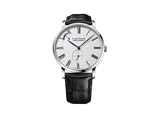 Louis Erard Excellence Manual Watch, White, 40 mm, Leather, 53230AA11.BDC02
