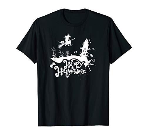 Fröhlich Halloween Spukhaus Gespenstisch Lazy Party Kostüm T-Shirt